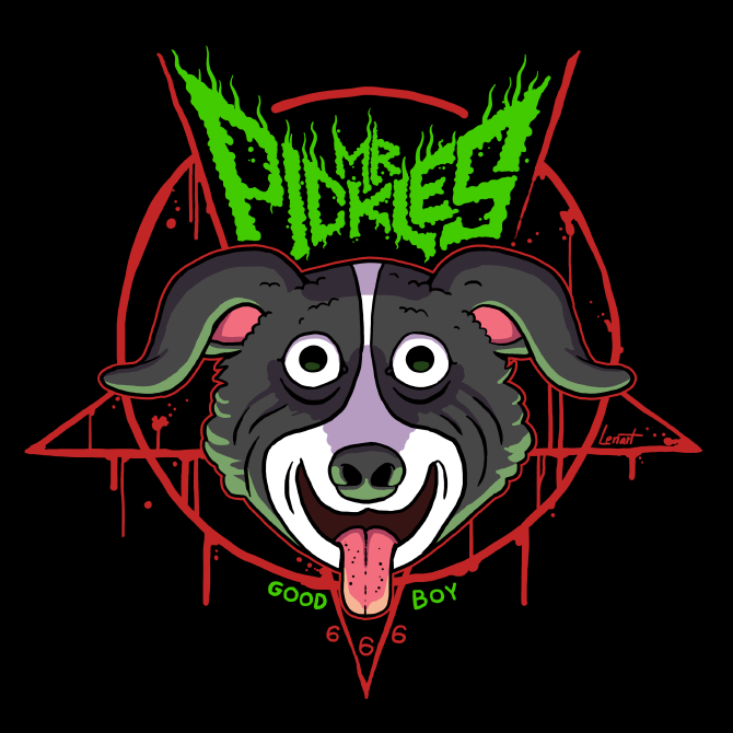 Design, inspired by the logo of Mr Pickles, an Adult Swim animated ...