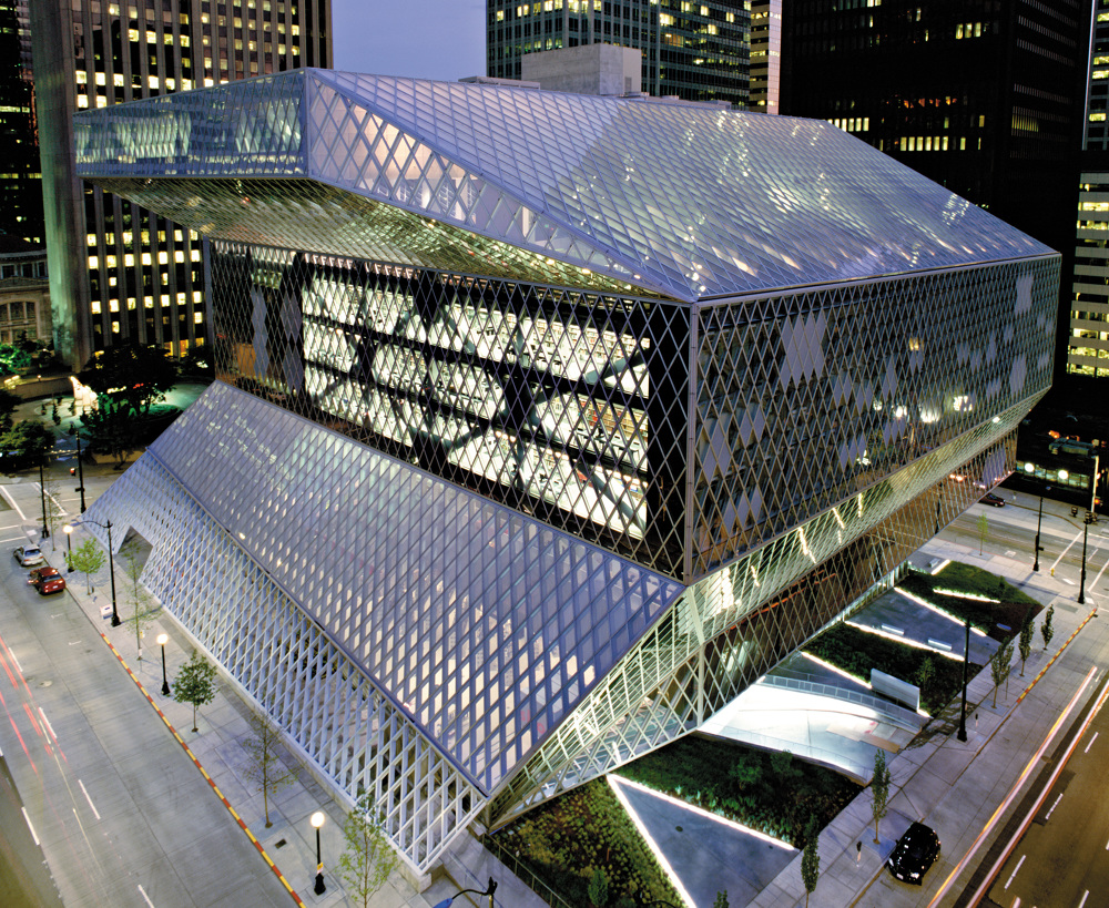 Seattle Public Library Inside Outside