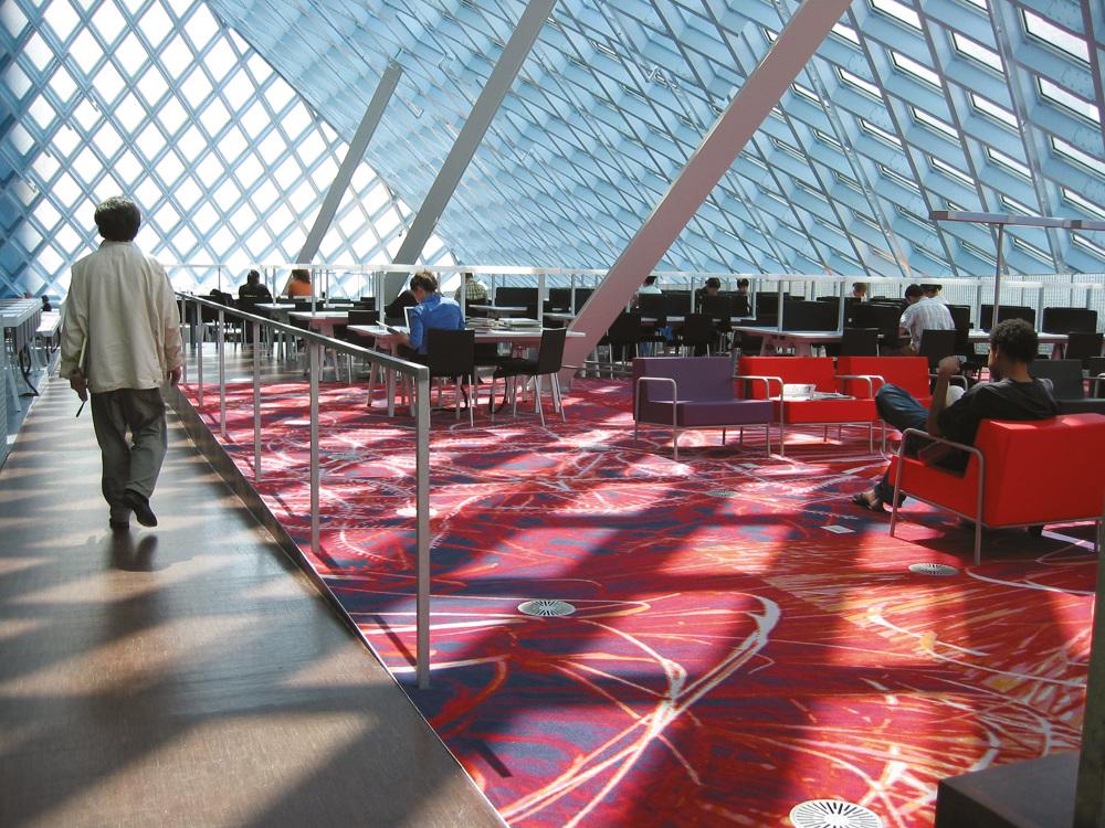 Seattle Public Library Inside Outside